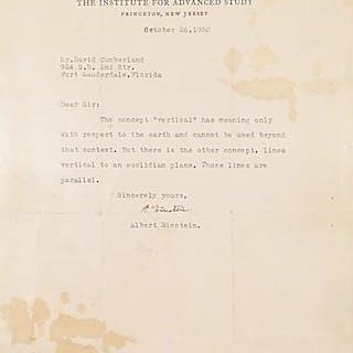 Typed Letter Signed - EINSTEIN, ALBERT.