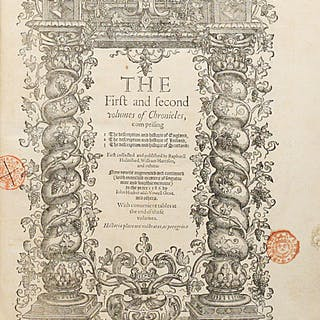 The First and second volumes of Chronicles, comprising 1 The description
