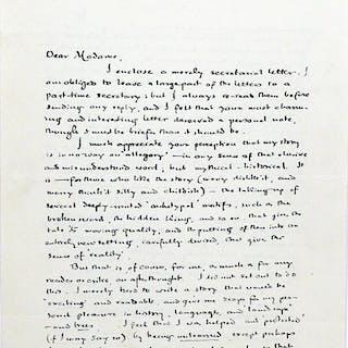 Autograph Letter Signed [ALS]; Typed Letter Signed [TLS] - TOLKIEN, J.R.R.