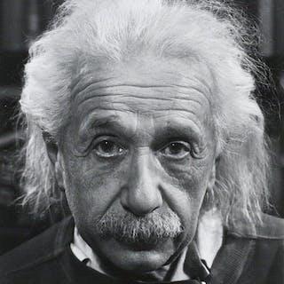 Albert Einstein: Silver Gelatin Print Photograph - EINSTEIN, ALBERT;