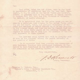 Typed Letter Signed - Roosevelt, Franklin Delano.