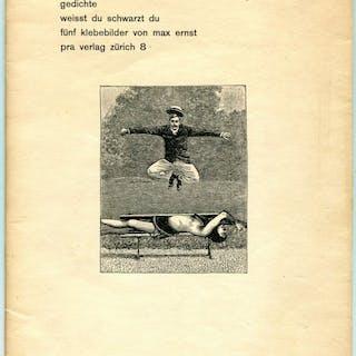 Gedichte. Weisst du Schwartz du Funf Klebebilder von Max Ernst - ARP