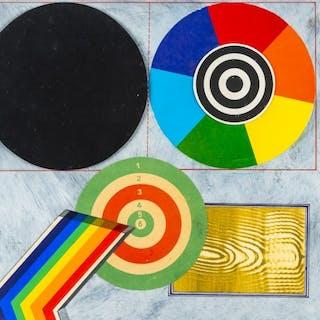 Disco cromatico e suo equivalente in nero - 1968 -  Lucio Del Pezzo