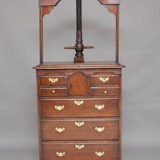 18th Century Norfolk oak press chest
