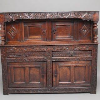 Mid 17th Century oak court cupboard