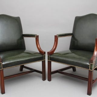 Pair of early 20th Century Gainsborough armchairs