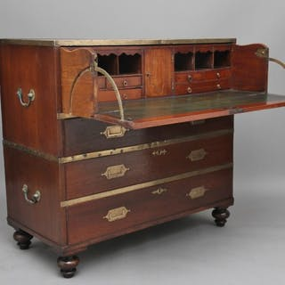 19th Century Anglo-Indian military chest