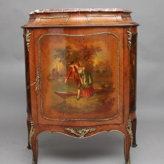 19th Century French Kingwood and brass mounted cabinet