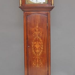Early 20th Century inlaid mahogany longcase clock