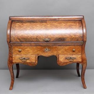 19th Century parquetry miniature desk