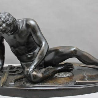 """19th Century bronze figure of """"The Dying Gaul"""""""