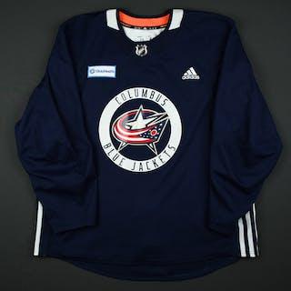 Cam Atkinson - 17-18 - Columbus Blue Jackets - Navy Practice Jersey