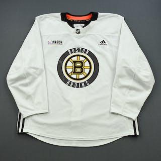 John Moore - 18-19 - White - Stanley Cup Final Practice Worn Jersey