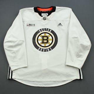 Torey Krug - 18-19 - White - Stanley Cup Final Practice Worn Jersey
