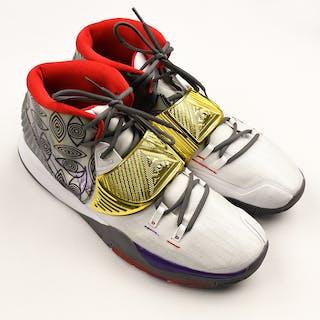 "Jared Dudley - Game-Worn Sneakers - Nike Kyrie 6 ""Preheat Houston"""