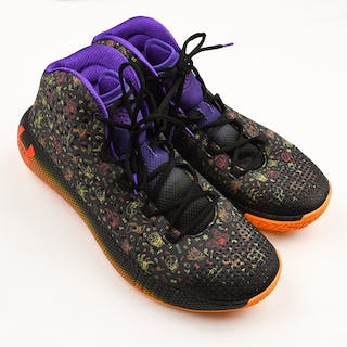 """Mo Bamba - Game-Worn Sneakers - Under Armour HOVR Havoc 2 """"Day of the Dead"""" PE"""