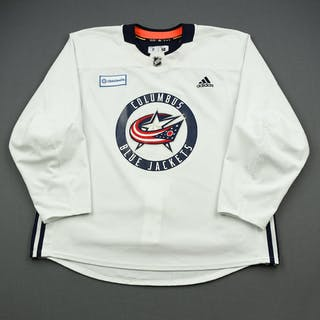Zach Werenski - 19-20 - Columbus Blue Jackets - White Practice Jersey