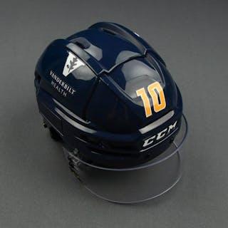 Colton Sissons - Game-Worn Reverse Retro Helmet - 2020-21 NHL Season