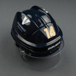 Mattias Ekholm - Game-Worn Reverse Retro Helmet - 2020-21 NHL Season