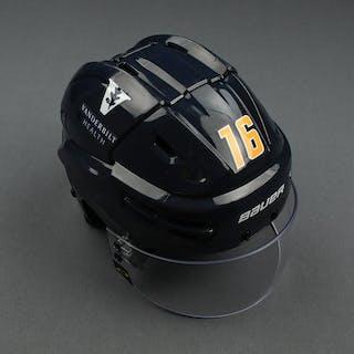 Rem Pitlick - Game-Worn Reverse Retro Helmet - 2020-21 NHL Season