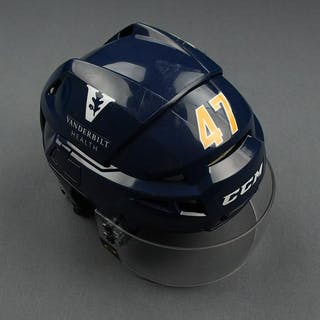 Michael McCarron - Game-Worn Reverse Retro Helmet - 2020-21 NHL Season