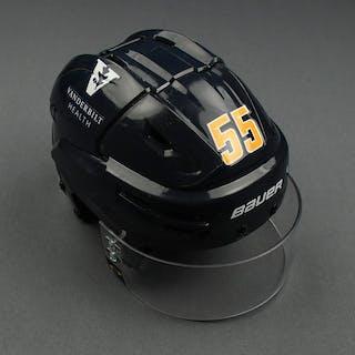 Luca Sbisa - Game-Issued Reverse Retro Helmet - 2020-21 NHL Season