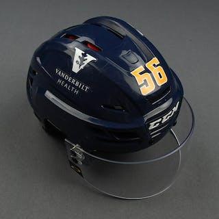 Erik Haula - Game-Worn Reverse Retro Helmet - 2020-21 NHL Season