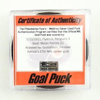 Nolan Patrick - Philadelphia Flyers- Goal Puck - (Rare TRACKING PUCK)
