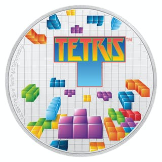 2019 Niue Tetris 35th Anniversary 1 oz Silver Colorized Proof $2 Coin
