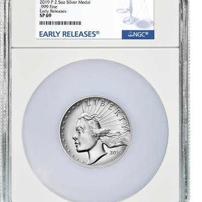 2019-P United States American Liberty High Relief Medal 2.50 oz Silver