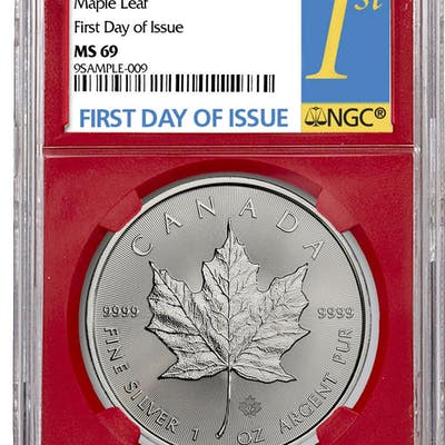 2019 Canada 1 oz Silver Maple Leaf $5 Coin NGC MS69 First Day of Issue
