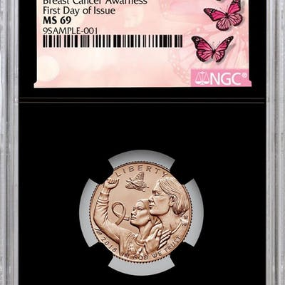 2018-W Breast Cancer Awareness Commemorative Pink Gold $5 Coin NGC