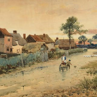 Leopold Rivers (1850-1905) Afternoon Stroll (1887)