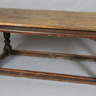 A LATE 17TH CENTURY OAK REFECTORY TABLE