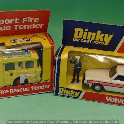 Dinky Toys 243 Volvo Police Car Diecast Model      Barnebys