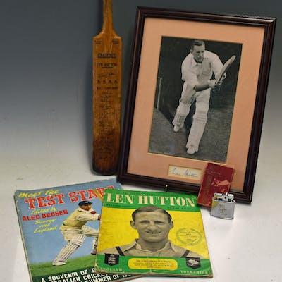 Len Hutton Cricket Collection to consist of Ronson...