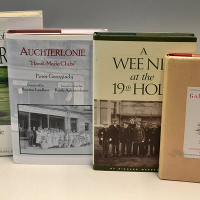 St Andrews Golf Related Books 3x signed –...