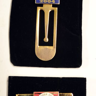 2004 Ryder Cup Enamel Money Clip and book...