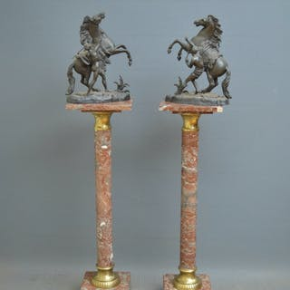 Victorian Pair Of Marble Columns - Nimbus Antiques