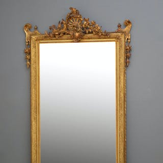 Turn of the Century French Gilt Mirror - Nimbus Antiques