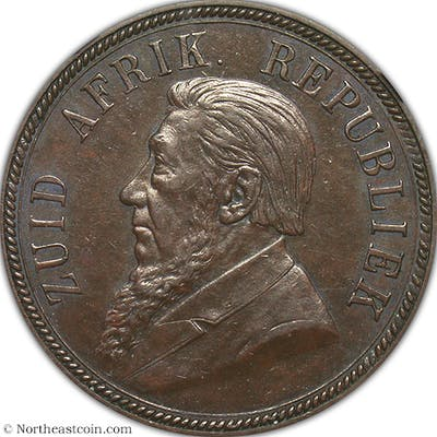 1893 Penny South Africa NGC AU58