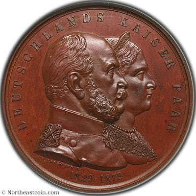 Germany/Prussia 1879 Wilhelm I & Augusta M-6154 Medals NGC MS63BN