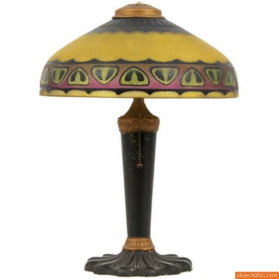 """Pittsburgh """"Chipped Ice"""" Lamp, 1925, Arts & Craft"""