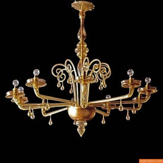Large Chandelier Attributed to Carlo Scarpa/Vittorio Zecchin, Circa 1930