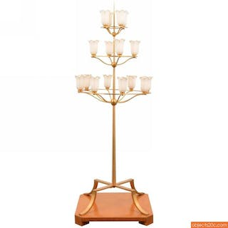 Monumental T.H. Robsjohn-Gibbings Floor Lamp from White Shadows Estate