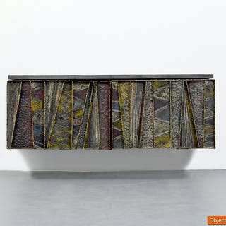 Paul Evans Deep Relief Wall Cabinet