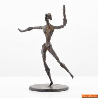 Chaim Gross Bronze Figural Sculpture