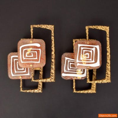 Pair of Angelo Brotto Sconces / Appliques