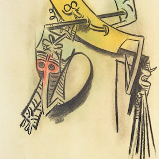 "Wifredo Lam ""Monte de Seves"" Lithograph, Signed Ed."