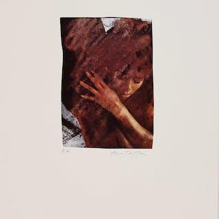 Mimmo ROTELLA - Lithographie offset signée contrecollée sur papier